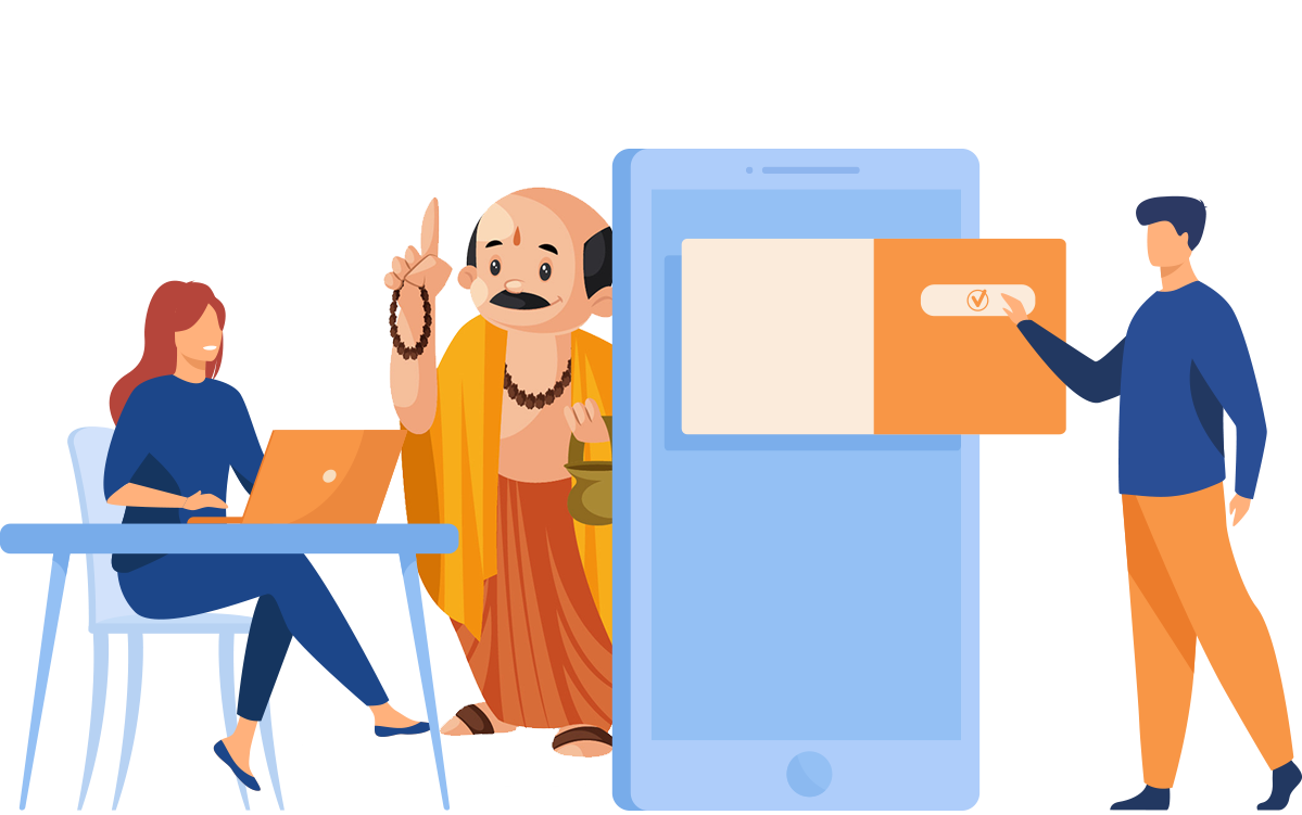 Booking of online puja
