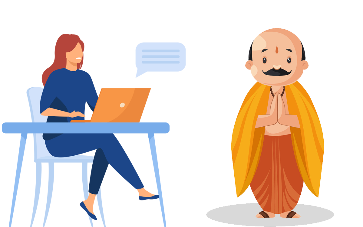 connecting for online puja